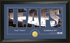 Toronto Maple Leafs Word Silhouette Coin Photo Mint