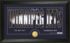 Winnipeg Jets Word Silhouette Coin Photo Mint