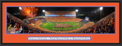 Clemson Memorial Stadium Gather at the Paw Picture with double matting and black frame