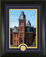 "West Virginia University ""Campus Traditions"" Bronze Coin Photo Mint"