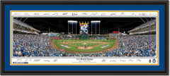 Kansas City Royals 2015 World Series Framed Print With Signatures with double matting