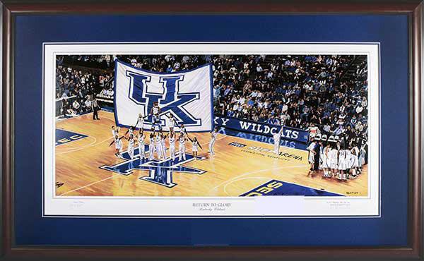 image about Printable Uk Basketball Schedule titled Kentucky Basketball Return toward Glory Framed Print
