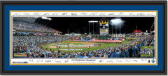 Royals Game 1 and 5 2015 World Series Framed Print With Signatures Double Matted