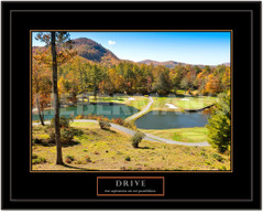 Drive Motivational Golf Framed Poster