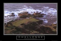 Challenge Motivational Golf Framed Picture