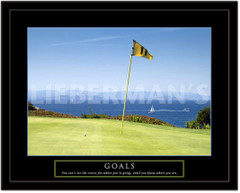 Goals Motivational Golf Framed Picture