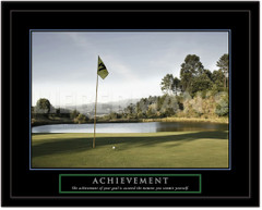 Achievement Motivational Golf Framed Picture