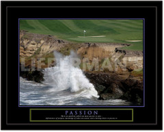 Passion Motivational Golf Framed Picture