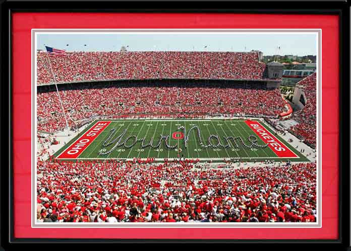 4be02214 Script Ohio with Your Name on the Field in Ohio Stadium Photo