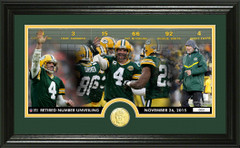 Brett Favre Jersey Unveiling Bronze Coin Pano Photo Mint