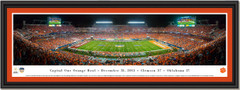 Clemson 2015 Sun Life Orange Bowl Framed Picture single matted and black frame