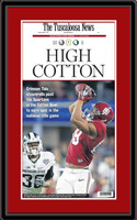 Alabama Cotton Bowl Newspaper Headlines Framed Poster