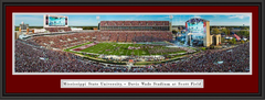Mississippi State Davis Wade Stadium at Scott Field Framed Print with double matting
