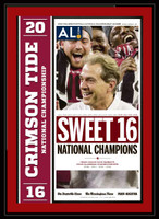 Alabama 2016 National Championship Sweet 16 Headlines Poster