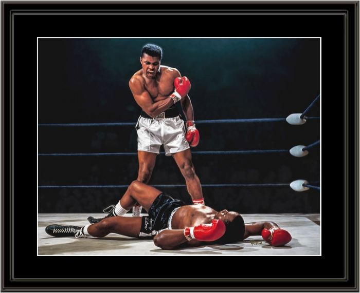 Muhammad Ali Vs Sonny Liston Championship Fight Framed Print