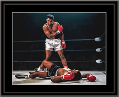 Muhammad Ali - Sonny Liston Championship Fight Framed Print