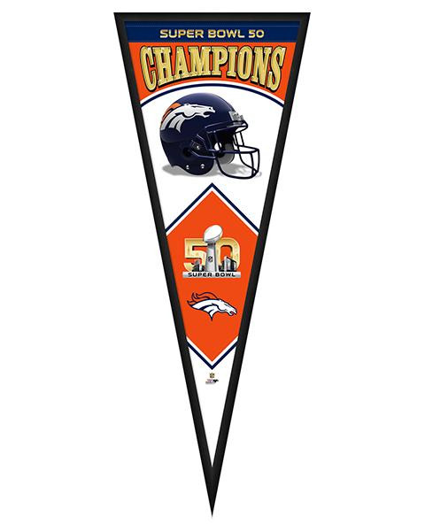 Denver Broncos Super Bowl 50 Framed Pennant Graphic