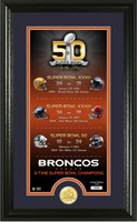 Denver Broncos Super Bowl 50 Bronze Coin Supreme Photo Mint
