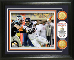 Denver Broncos Super Bowl 50 MVP Bronze Coin Photo Mint