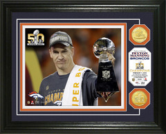 Peyton Manning Super Bowl 50 Bronze Coin Photo Mint