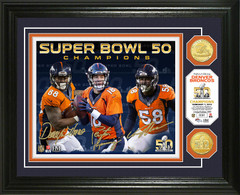Denver Broncos Super Bowl 50 Champions Bronze Coin Photo Mint