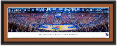 Kansas Allen Fieldhouse vs Kentucky Basketball Framed Poster matted