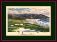 Pebble Beach 9th Hole Framed Limited Edition Print