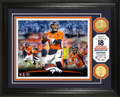 Peyton Manning Broncos Career Bronze Coin Photo Mint