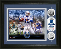 Peyton Manning Colts Career Silver Coin Photo Mint