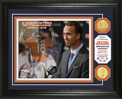 Peyton Manning Retirement Bronze Coin Photo Mint