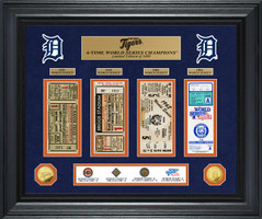 Detroit Tigers World Series Deluxe Gold Coin & Ticket Collection
