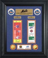 New York Mets World Series Deluxe Gold Coin & Ticket Collection