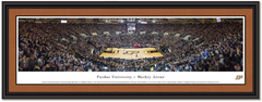 Purdue Mackey Arena Blackout Framed Basketball Poster