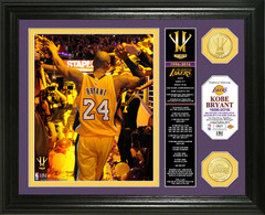 Kobe Bryant Final Season Banner Bronze Coin Photo Mint