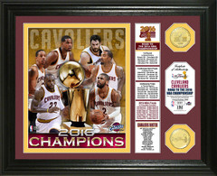 "Cleveland Cavaliers 2016 NBA Finals Champions ""Banner"" Bronze Coin Photo Mint"