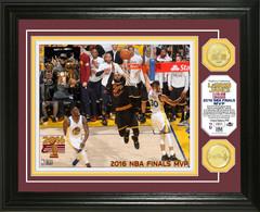 "Cleveland Cavaliers Lebron James 2016 NBA Finals ""MVP"" Bronze Coin Photo Mint"