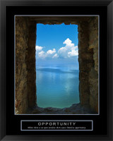 Opportunity Motivational Framed Print