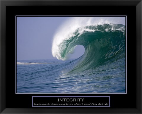 Integrity Frame Motivational Poster Myteamprints Com
