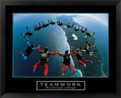 Teamwork Framed Motivational Poster