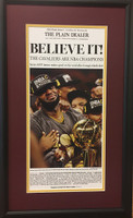 "Cleveland Cavaliers 2016 ""Believe It"" Championship Headline Framed Print"