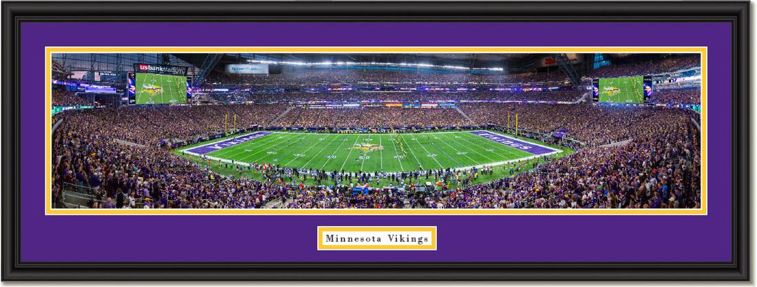 Minnesota Viking Panoramic Framed Picture U S Bank