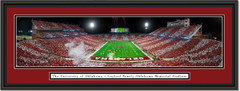 Oklahoma Sooners Framed Panoramic Picture - Gaylord Family Oklahoma Memorial Stadium
