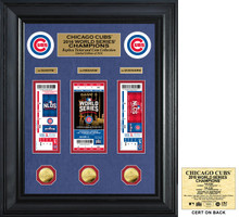 Chicago Cubs 2016 World Series Champions Deluxe Gold Coin & Ticket Collection