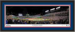 Chicago Cubs 2016 World Series Champion Framed Print Double Matting and Black Frame