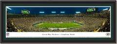 Green Bay Packers Lambeau Field Night Game Framed Panoramic Print