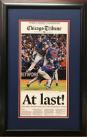 "Chicago Cubs 2016 World Series ""At Last"" Headline Framed Print"