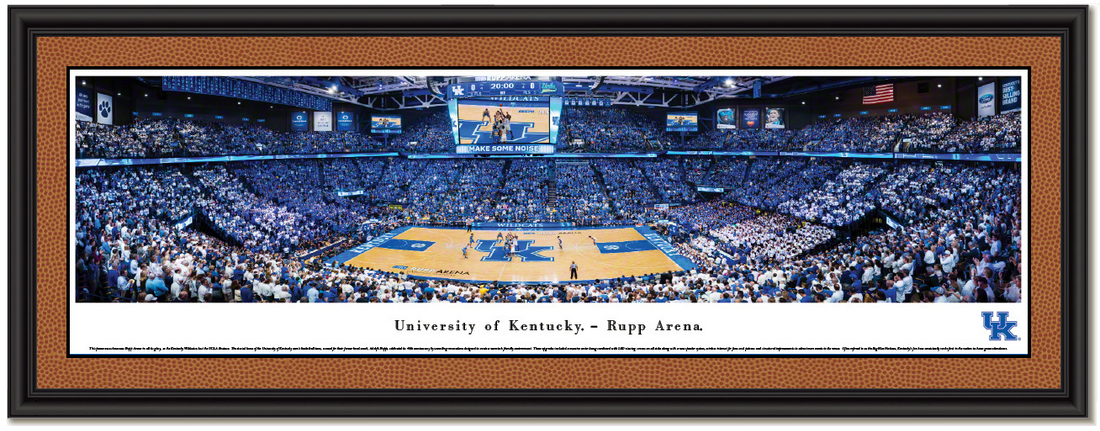 Kentucky Wildcats Basketball Rupp Arena Panoramic Framed Picture