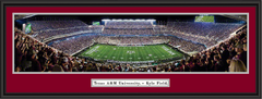 Texas A&M Kyle Field Night Game Panoramic Picture