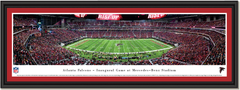 Atlanta Falcons First Game Mercedes-Benz Stadium Framed Panoramic Picture