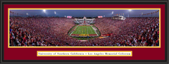 USC Trojans End Zone Framed Panoramic Picture